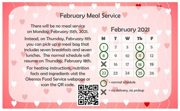 February Food Service Flyer
